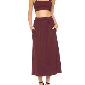 Torn by Ronny Kobo Glory Bordeaux Skirt